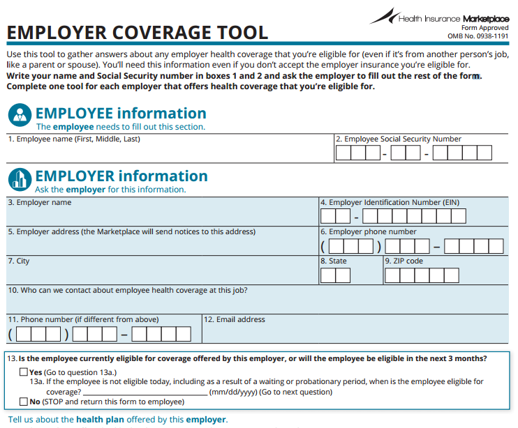Employer Coverage Tool