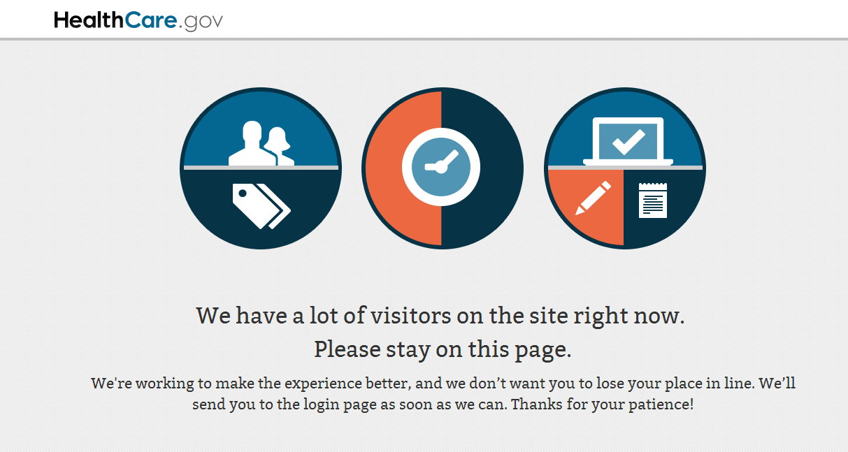 HealthCareGov Down